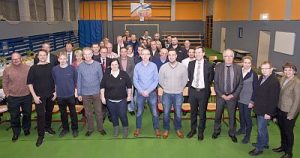 Treffen mit Vetretern der Wirtschaft, Industrie- und Handelskammer, Handwerkskammer und Betrieben an der Oderbruch-Oberschule Neutrebbin